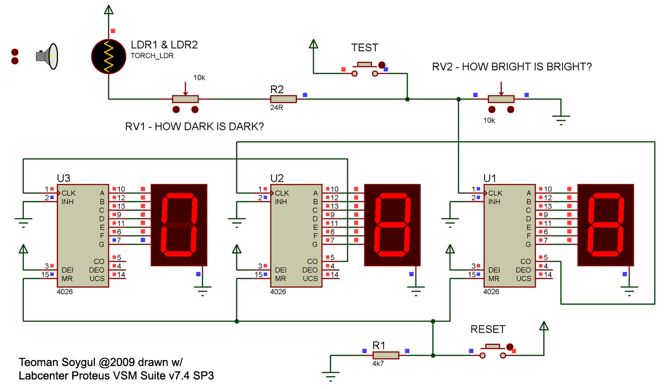 laser interference pattern enumerator, wiring diagram